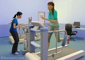 Проведение теста на беговой дорожке в больнице
