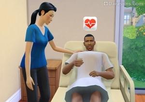 Лечение пациента в The Sims 4