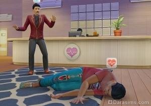 Сим упал в обморок