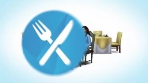 Иконка ресторанного игрового набора в Симс 4