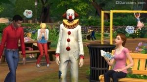 печальный клоун в Симс 4