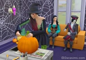 жуткая вечеринка в sims 4 spooky stuff
