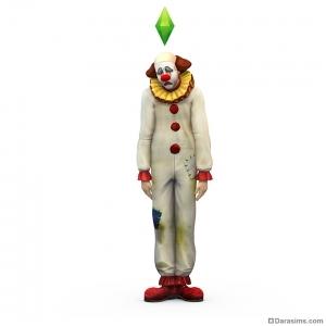 Рендер печального клоуна в The Sims 4
