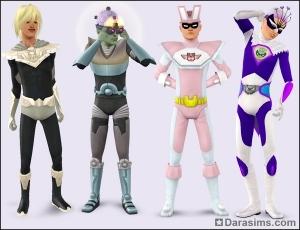 Мужские костюмы супергероев в Симс 3