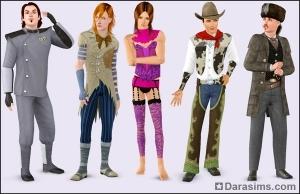 Мужские костюмы в каталоге Симс 3 Кино