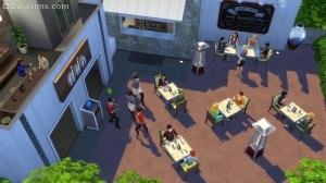 Уличный обогревать в Симс 4 В ресторане