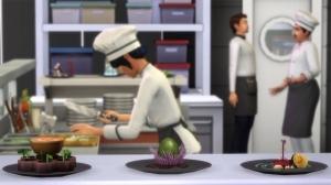 Новые блюда у повара на кухне в ресторанном наборе