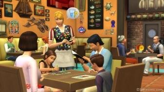 Семейный поход в ресторан с детьми в «The Sims 4 Dine Out»
