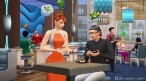 ресторанный критик в The Sims 4 В ресторане