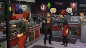рабочий процесс в симс 4 в ресторане