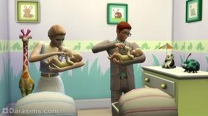 Кормление малышей в Симс 4