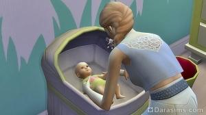 Новорожденный в колыбели - Симс 4