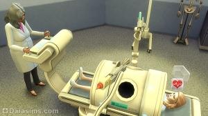 Рождение ребенка в больнице под присмотром врача в Симс 4
