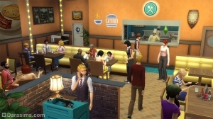 в ресторане в the sims 4 dine out
