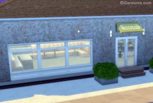 новые двери и окна в sims 4 в  ресторане