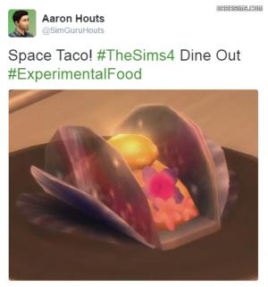 космический тако в ресторане