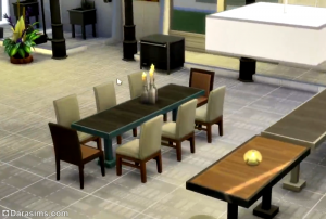 столики в симс 4 в ресторане