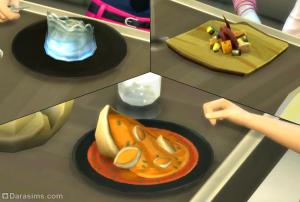 новые блюда в симс 4 в ресторане