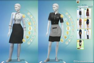 рабочая одежда в sims 4 в ресторане