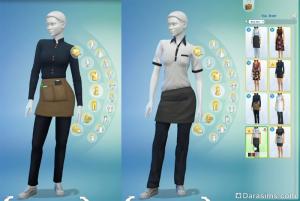 униформа для работников в симс 4 в ресторане