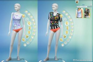 новая одежда в комнате создания персонажей