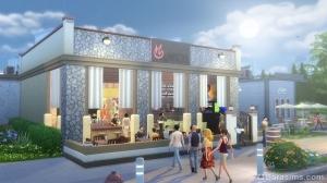первые посетители в sims 4 в ресторане