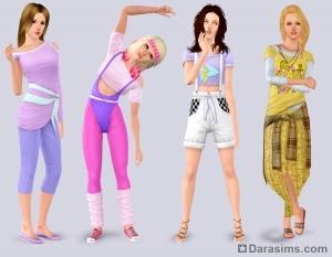 Женская одежда в Sims 3