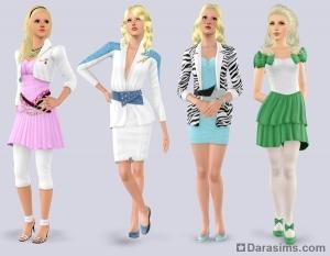 Женская одежда в каталоге Симс 3