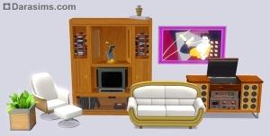 Мебель в каталоге The Sims 3 70s 80s 90s stuff