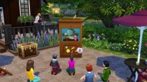 Кукольный театр и зрители в Sims 4 Kids room