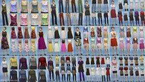 Новая женская одежда в игровом наборе