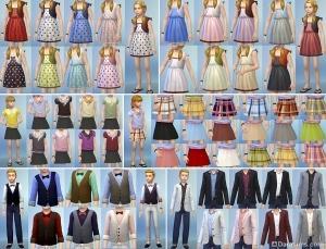 Детская одежда в Sims 4