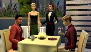 Столик в ресторане Sims 4