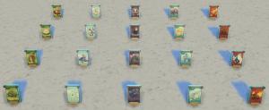 Коллекция карточек с космическими монстрами в Симс 4