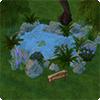 Строительство плавательного или декоративного пруда из бассейна в Симс 4