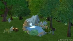 Водоем с водопадом в Симс 4