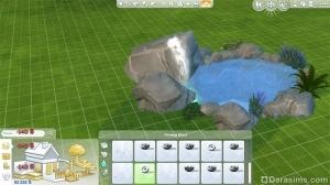 Добавление водопада в бассейн-пруд