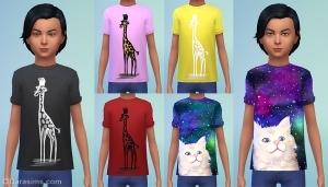 Детские футболки с животными в каталоге симс 4