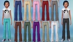 Детские брюки в каталоге Симс 4