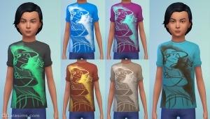 Детская футболка с принтом в The Sims 4 Детская комната