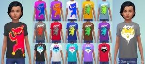 Детская футболка с монстрами в Симс 4