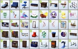 Мебель и предметы в каталоге Симс 4 Детская комната