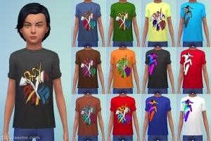 Детская футболка с граффити в каталоге симс 4