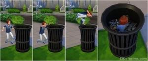 Ребенок ищет карточку монстра в мусоре