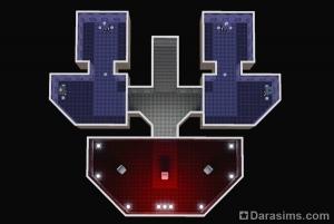 План загадочного корабля с сокровищами в Оазисе приземления