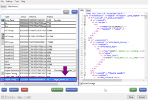 Вкладка Object Tuning в Sims 4 Studio