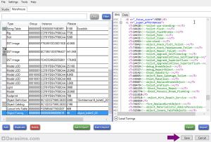 Измененный файл настроек в окне программы Sims 4 Studio