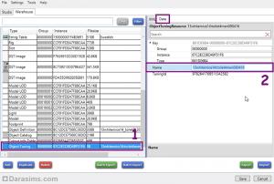 Внутриигровое имя файла настройки во вкладке Data