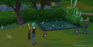 Места для рыбной ловли Sims 4