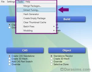 Экспорт тюнинга в Sims 4 Studio